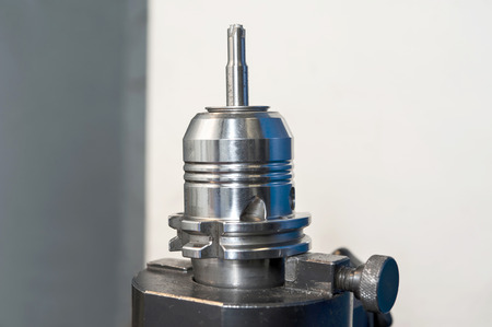 Radial mill CNC tool  Milling and drilling industry  Closeup  photo