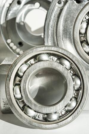 Metal bearing  CNC technology, machining, milling lathe and drilling industry  Mechanical engineering  Metalwork  Closeup  Standard-Bild