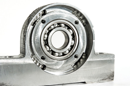 chrome base: Mounted roller bearing unit CNC technology. Milling lathe and drilling industry. Metalworking. Mechanical engineering