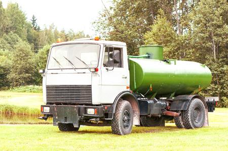 Russian tank truck maz. Outdoors. photo