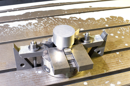 clincher: Industrial metal chuck diemold. Metalworking and mechanical engineering. Lathe milling and drilling technology. CNC industry. Indoors horizontal image. Stock Photo