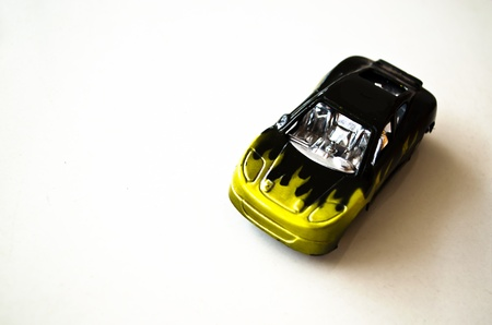 Isolated Black-yellow Model Car