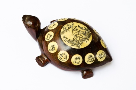 Chinese Wooden Turtle Stock Photo