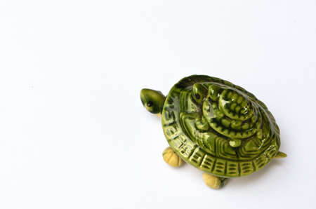 Green Ceramic Turtles Stock Photo