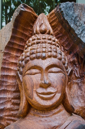 Wooden Buddha Image Stock Photo - 13135020