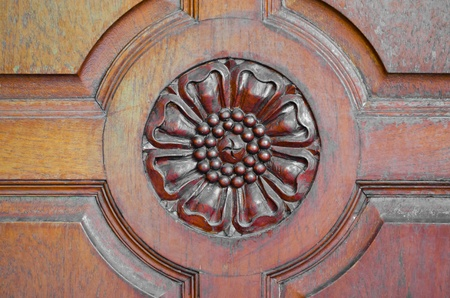 A part of a door carved as a flower