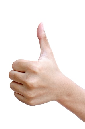 Isolated thumb - up sign
