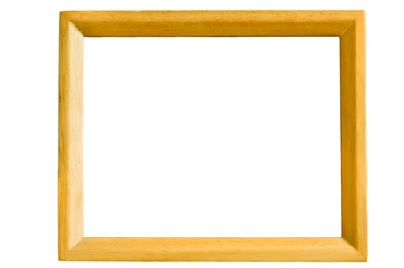 Wooden frame for inserting photos and so on