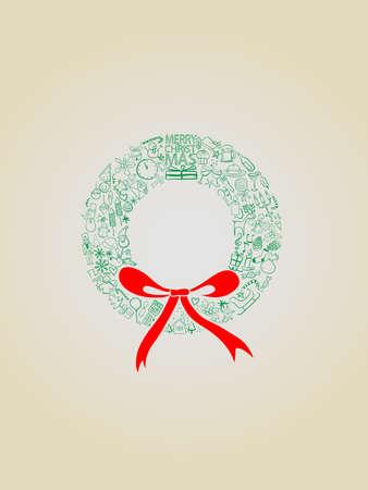 Mistletoe consisting of Christmas symbols Stock Vector - 16438189