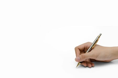 a hand holding a pencil Stock Photo - 17755797