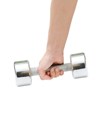 a hand holding a dumbbell
