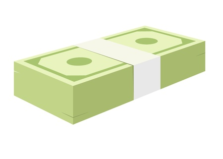 a stack of green banknote