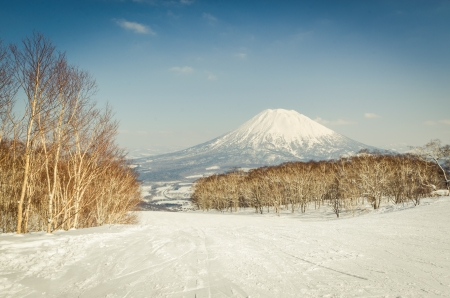 Mt. Yotei from a ski resort
