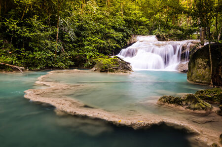 The first level of Erawan Fall, Thailand