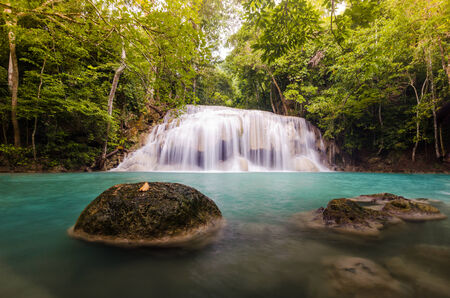 The second level of Erawan Fall, Thailand