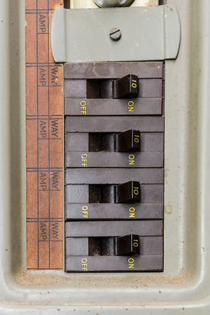 board consisting of four switch in a house