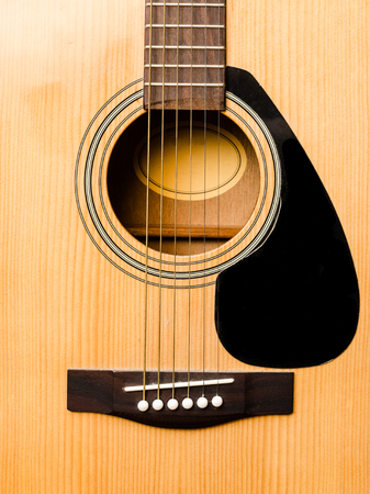 isolated image of the body of the guitar