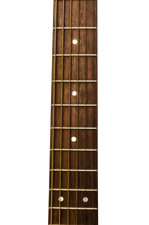 isolated image of the neck of the guitar