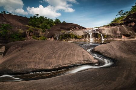 small waterfall in Bungkarn Thailand Stock Photo