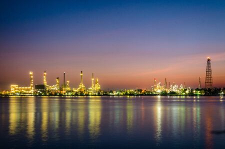 ptt oil refienery at twilight Stock Photo