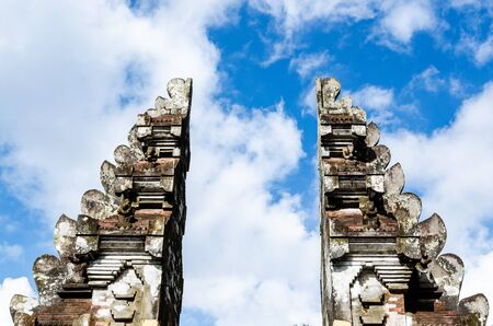 top of a door in a temple in Bali, Indonesia