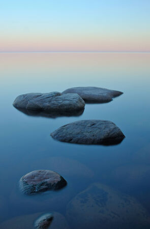 ladoga: White nights on Lake Ladoga Stock Photo