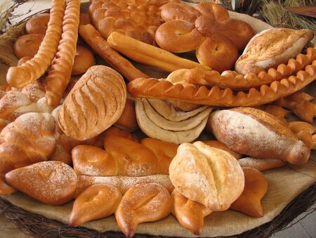 Group of bread display