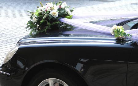 Auto matrimonio decorazione