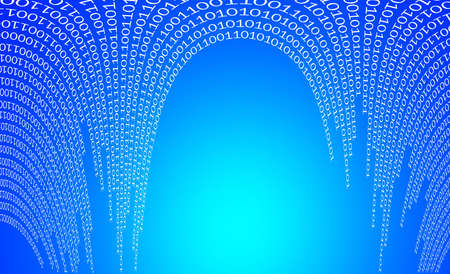 Binary data in the form of arches Stock Photo
