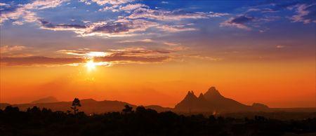 Mountain Range quasi tramonto  Archivio Fotografico