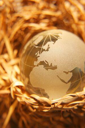 Concetto protette terra-Europa, Africa, Medio Oriente versione