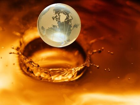 Impact of globe concept Stock Photo