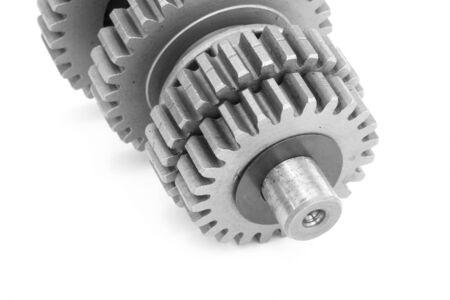 shaft: Closeup of metal gear shaft