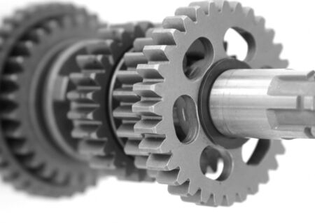 Gears gear box shaft closeup