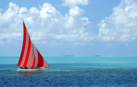 Regatta in Mauritius Stock Photo