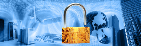 Wireless computer security theme Stock Photo - 1676921