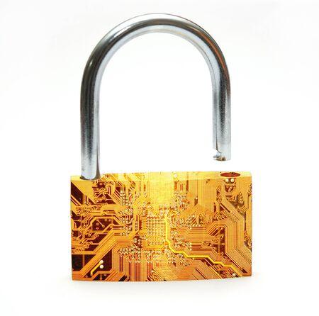 Digital blocco che rappresenta la sicurezza di Internet Archivio Fotografico