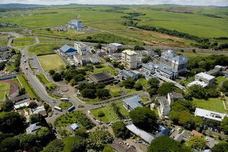 hub: Aerial view of University of Mauritius and Education hub