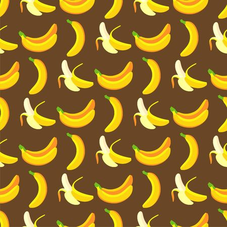 tile able: Seamless and tile able banana pattern in vector file. This pattern can be used as background fabrics wallpaper and many more.