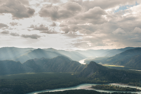 katun: Landscape view from peak of mountain