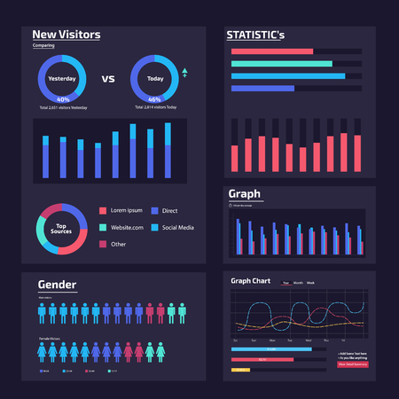 infographic web analysis element design