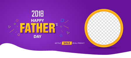 2018 Happy Father's Day sale banner cover poster template design
