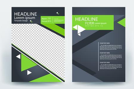 corporative business flyer brochure vector template design
