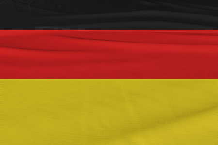 Isolated Germany Flag waving, 3D Realistic Germany Flag Rendered