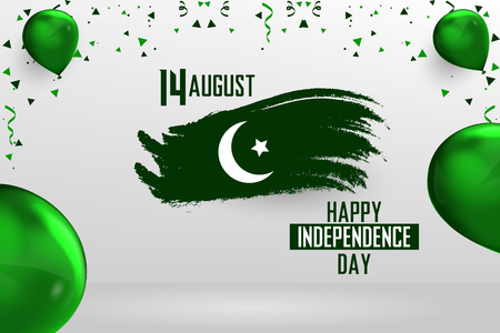 Happy Independence Day Pakistan, 14 August Pakistani Independence Day Ilustração