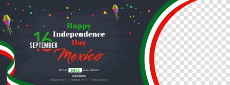 Viva Mexico Happy Independence Day Social Media Banner