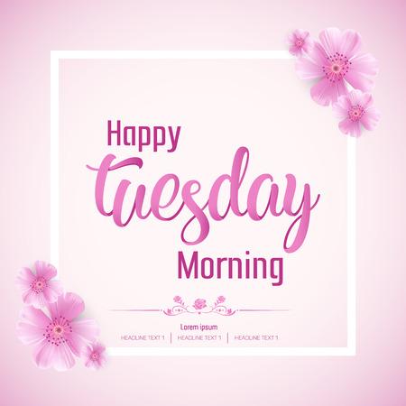 Ilustración de fondo hermoso feliz martes Vector
