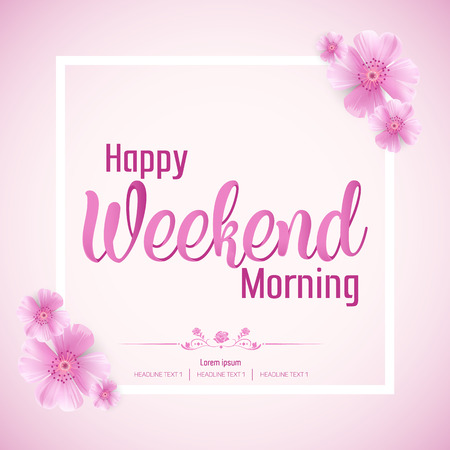 Beautiful Happy Weekend day Vector Background Illustration
