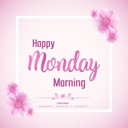 Beautiful Happy Monday Vector Background Illustration