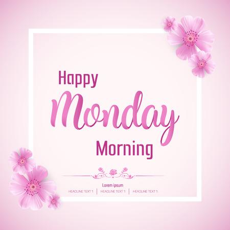 Beautiful Happy Monday Vector Background Illustration